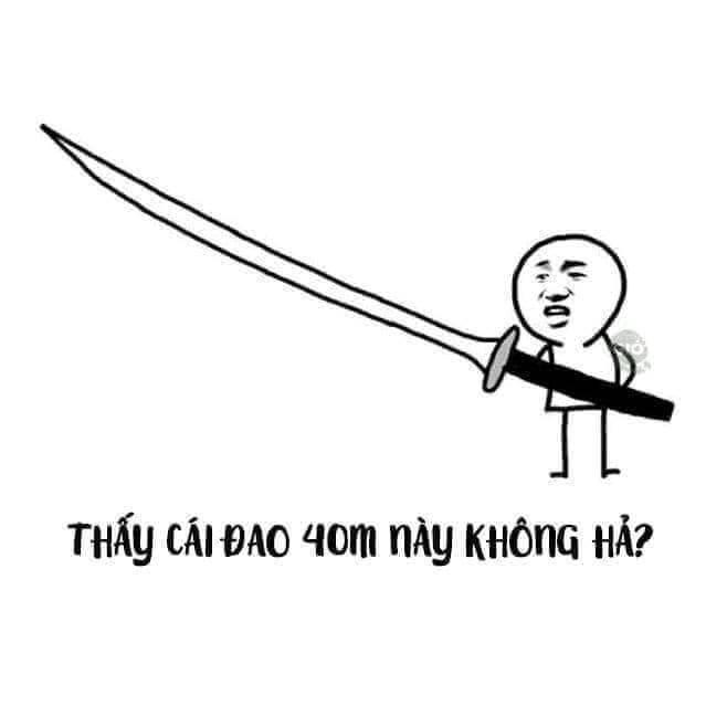 Thấy cái đao 40m này không hả? - Baozou Manhua meme - Meme Gấu ...